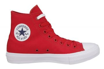 New Mens 11 Converse CT 2 HI Salsa Red Canvas Basketball Shoes 150145C $75
