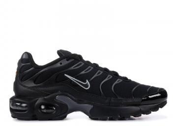 nike air max plus gs tn black metallic gold