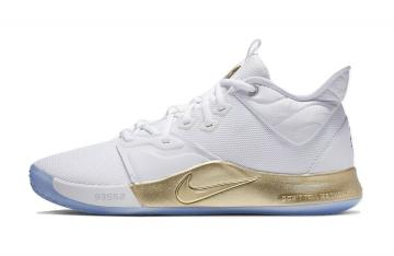 Nike PG 3 NASA Apollo Missions White Metallic Gold CI2666-100