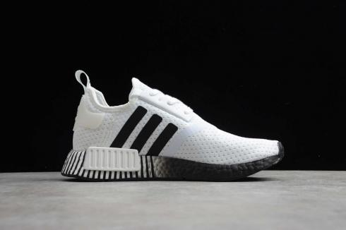 Adidas NMD R1 Boost White Black Running Shoes FV3686