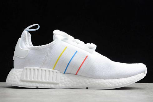 Adidas NMD R1 White Yellow Blue Red Shoes FW6436