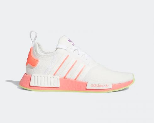 Wmns Adidas NMD R1 White Signal Pink Red FY9388