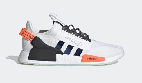 Adidas NMD R1 V2 Cloud White Solar Red Core Black Shoes FX9451