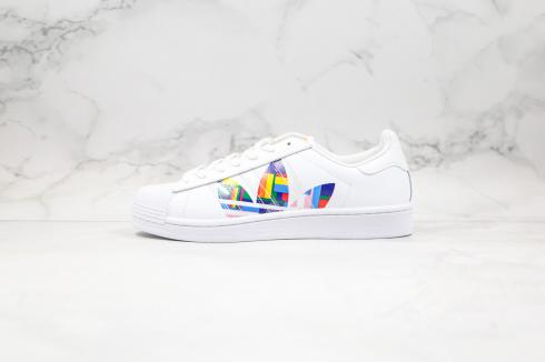 Adidas Originals Superstar Cloud White Multi-Color Shoes FU6520