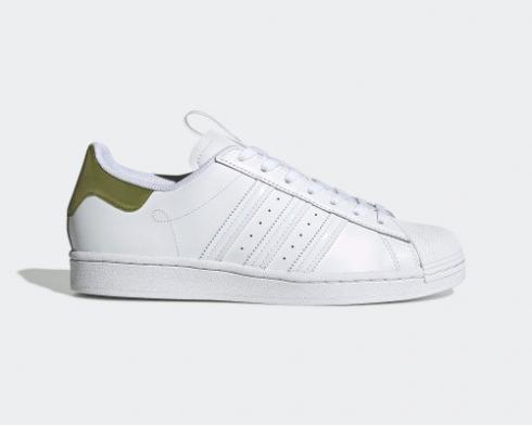 Adidas Superstar Cloud White Sub Green Orange Shoes FW2857