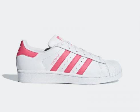 Adidas Superstar J Cloud White Real Pink Shoes CG6608