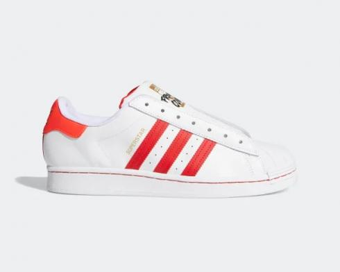Adidas Superstar Laceless Cloud White Team Collegiate Red Solar Red FV2803