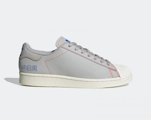 Adidas Superstar Pure Embroidered Katakana Grey Chalk White FV2834
