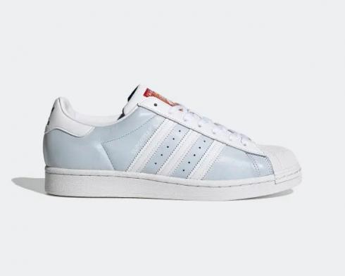 Adidas Superstar Shallow Blue Cloud White Hi-Res Red Shoes FY5252