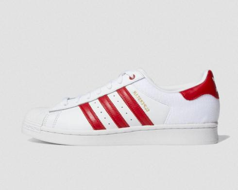 Adidas Superstar Velcro White Red Running Shoes FY3117