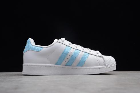 Adidas Wmns Superstar Cloud White Blue Metallic Gold CQ1887