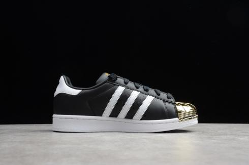 Adidas Wmns Superstar Metal Toe Core Black Footwear White Gold BB5115