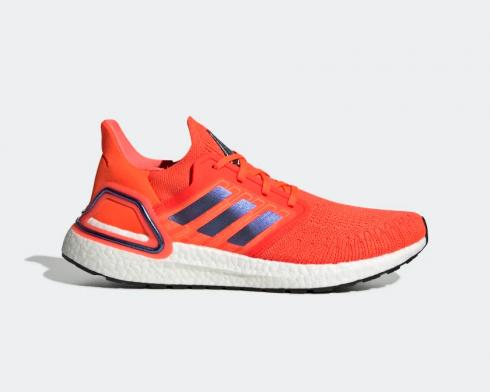 Adidas UltraBoost 20 ISS US National Lab Solar Red White FV8449