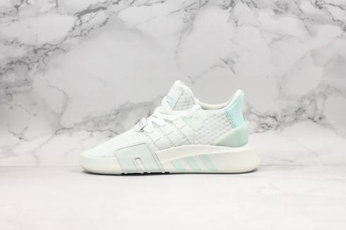 Adidas EQT Bask ADV Cloud White Green Blue Running Shoes BD7808