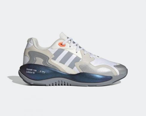 Adidas ZX Alkyne Boost Cloud White Grey Blue Shoes FY5720