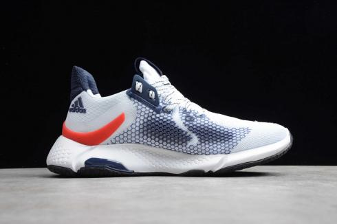 Addias Alphabounce Instinct Cloud White Navy Blue Red Shoes CG5584