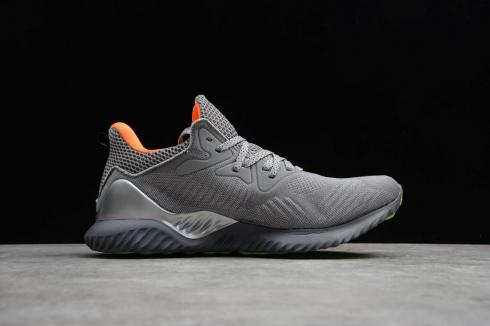 Adidas Alphaboost Wolf Grey Silver Orange Green Running Shoes B89093