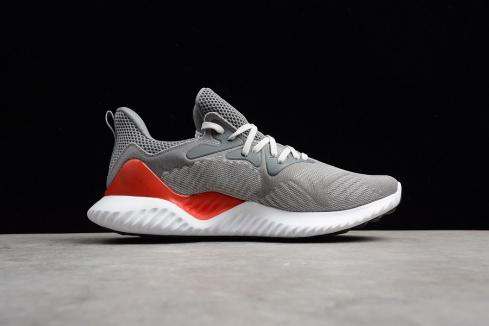 Adidas Alphabounce Beyond Grey Solar Red Cloud White AC8625