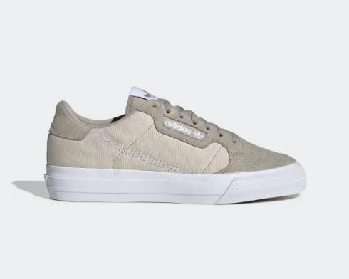 Adidas Continental Vulc Light Brown Cloud White Clear Brown EF9316