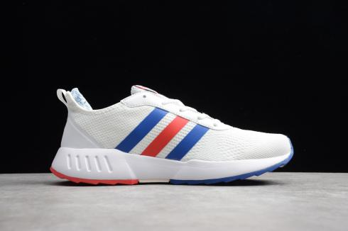 Adidas Grand Court Cloud White Blue Solar Red Shoes EH0835