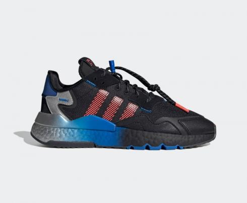 Adidas Nite Jogger Boost Black Flash Red Blue Shoes FW4275