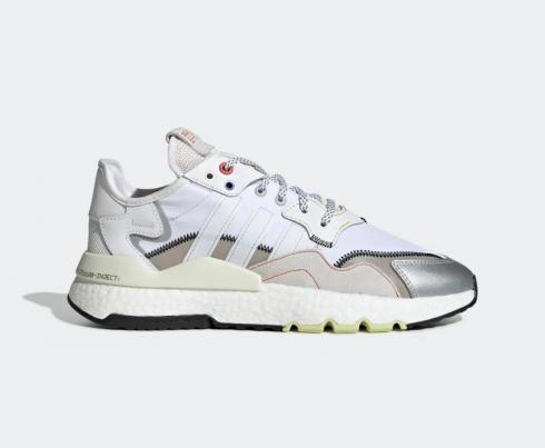 Adidas Nite Jogger Boost Orbit Grey Cloud White Hi Res Red Shoes EF5405