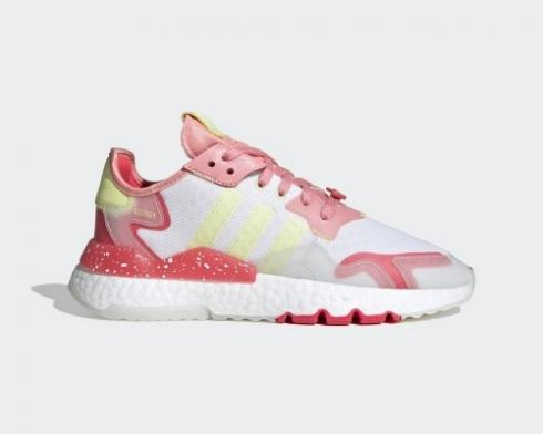 Adidas Nite Jogger Boost Red Pink Yellow Red Shoes FX3815