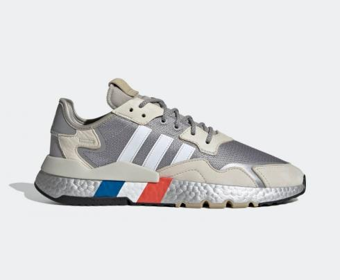 Adidas Nite Jogger Boost Silver Metallic Footwear White Alumina Shoes FV4280