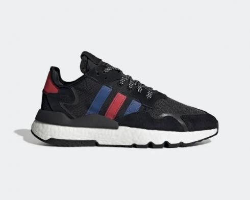 Adidas Nite Jogger Core Black Collegiate Royal Scarlet FV3585
