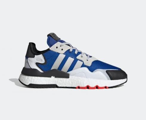 Adidas Nite Jogger Royal Blue Grey White Shoes EH1294