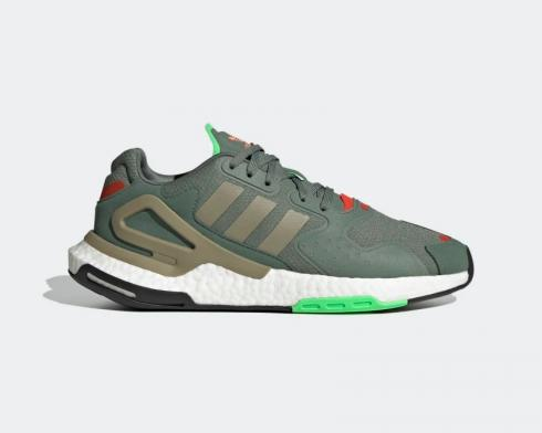 Adidas Originals Day Jogger Trace Green Cargo Solar Red FW4817