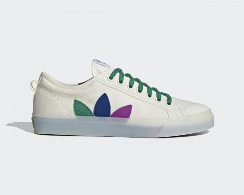 Adidas Originals Nizza Pride Off White Scarlet Solar Orange FX3795