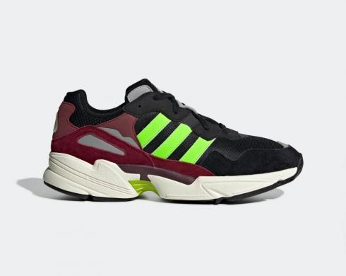 Adidas Originals Yung-96 Core Black Solar Green Collegiate Burgundy EE7247