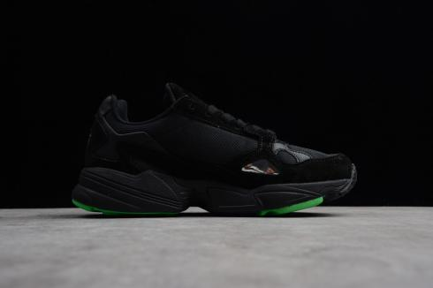 Adidas Originals Yung-96 Core Black Solar Green Shoes BB9179