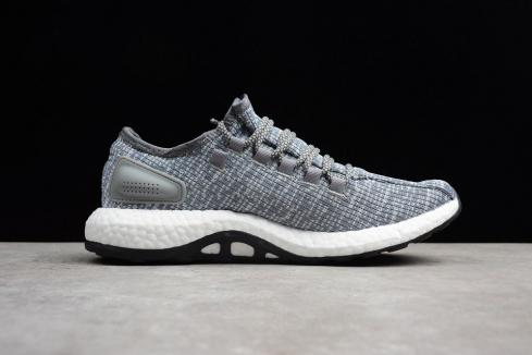 Adidas PureBoost Dark Grey Heather Cloud White Core Black BA8900