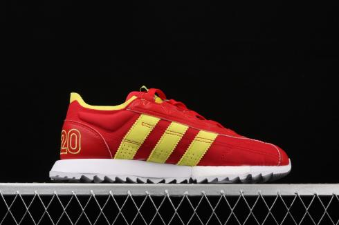Adidas SL 7600 Boost Vivid Red Yellow Running Shoes EG6779