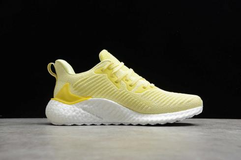 Adidas Wmns AlphaBoost Yellow Cloud White Core Black Shoes EF1286