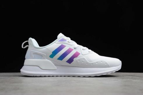 Adidas X PLR Cloud White Purple Running Shoes EE7650