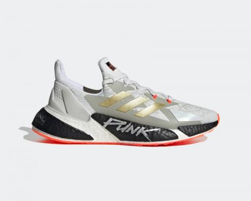Cyberpunk 2077 x Adidas X9000L4 Crystal White Gold Metallic Solar Red FY3143