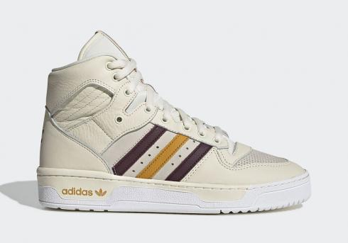 Eric Emanuel x Adidas Rivalry Hi Beige Red Crystal White Yellow G25836