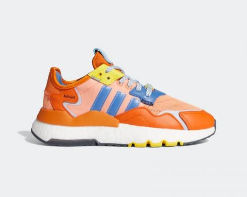 Ninja x Adidas Nite Jogger Big Kids Time In Amber Tint Tactile Orange FY0179