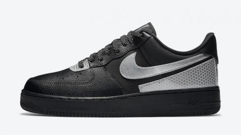 Brabd New 3M Nike Air Force 1 Low Black Silver CT2299-001