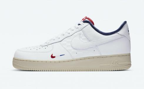 Kith X Nike Air Force 1 Low France Paris White Blue Red CZ7927-100