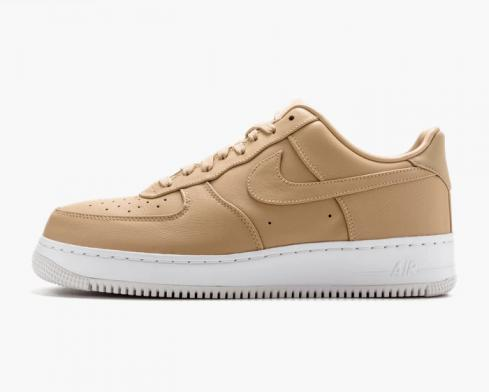 NikeLab Air Force 1 Low Vachetta Tan White Mens Shoes 555106-200