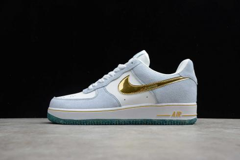 Nike Air Force 1 07 AN20 White Psychic Blue Metallic Gold CT9963-100