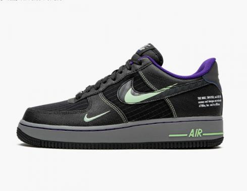 Nike Air Force 1 07 LV8 Low Future Swoosh Black Grey Green Racer Blue CT1621-001