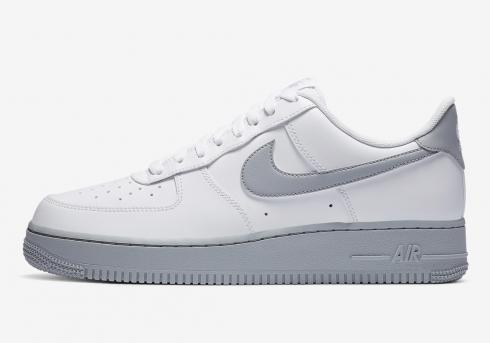 Nike Air Force 1 07 White Wolf Grey Sole Running Shoes CK7663-104