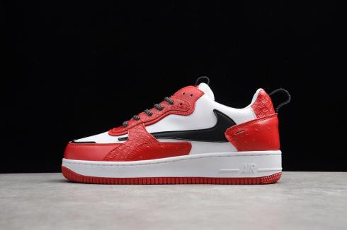 Nike Air Force 1 AC White Red Unisex Low Running Shoes 638939-201
