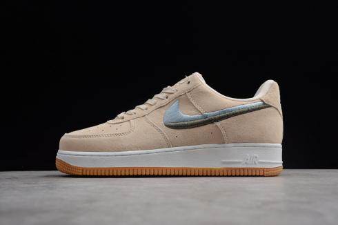 Nike Air Force 1 Low Naked Pink White Brown Running Shoes 898889-810