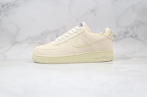 Nike Air Force 1 Low Stussy Beige White Running Shoes CZ9087-200